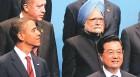 Chin Up: Obama, Hu Jintao and Manmohan Singh at the G-20 meet in Pittsburgh