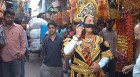 Epic change: Ravana on a mobile phone in Chandni Chowk ahead of Dussehra