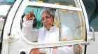 Fly away: Chopper-bound Laloo in Patna