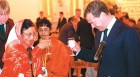 Calling Moscow: Patil and Medvedev at a reception