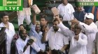 Bundled in: A TV grab of the cash-for-votes incident in the Lok Sabha on July 22, 2008