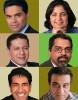(Clockwise from left) Fareed Zakaria, Madhulika Sikka, Raju Narisetti, Om Malik, Sanjay Gupta and Nik Deogun