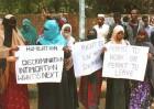 Somali refugees protesting recently at Jantar Mantar