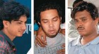 <b>Victims all</b> From left, Rajkumar, Krishna and Vijay Mandal