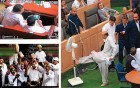 <b>Shame!</b> Porn in Karnataka assembly, kicking and screaming in J&K house, cash for votes