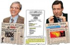 <i>Times</i> head honcho Sameer Jain, left, and <i>Financial Times</i> CEO John Ridding; appellate board ruling with a Tom Stoppard play line
