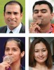 Clockwise from top left, Laxman, Gagan Narang, Jwala Gutta and Saina Nehwal
