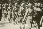 Indian forces on the march in France during first world war