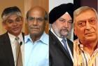 <b>Contenders (L-R)</b> Arun Singh, Shyam Saran, Hardeep Singh Puri and Kanwal Sibal