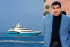 Combo: From left, the Ruias yacht <i>Sunrays</i> and Union surface transport minister Nitin Gadkari