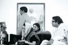 <b>Right-hand man:</b> Indira with Siddhartha Shankar Ray and R.K. Dhawan (standing)