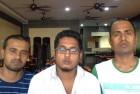 Amrit, Sanjit and Dinesh.