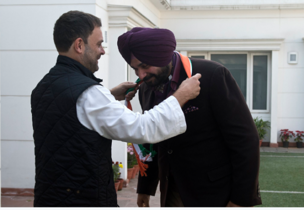 Navjot Sidhu Joins The Congress Ahead Of Upcoming Polls In Punjab