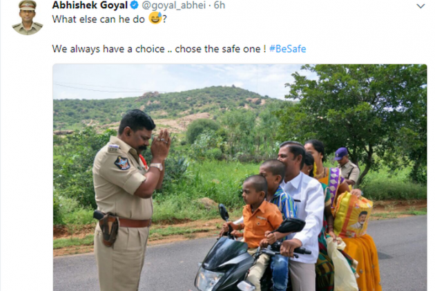 Andhra cop's hilarious reaction to traffic violators goes viral