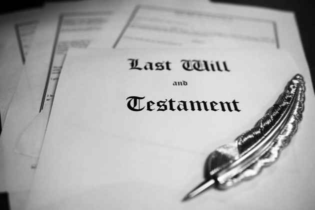 Last will and textament cuts out wife and son by phone