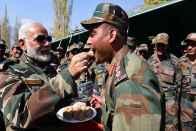 PM Modi Celebrates Diwali With Jawans Posted Along LoC In Jammu & Kashmir