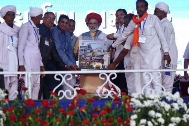 Modi Inaugurates Rs 615 Crore Ro-Ro Ferry Service In Polls-Bound Gujarat