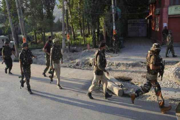 Image result for Security forces bust militant hideout in Kashmir
