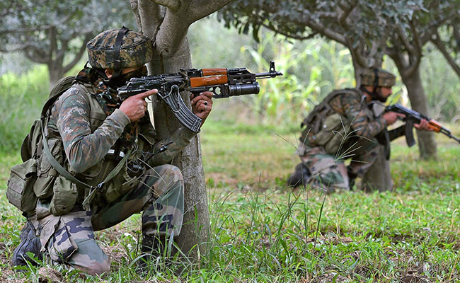 Three terrorists gunned down by security forces in Jammu and Kashmir