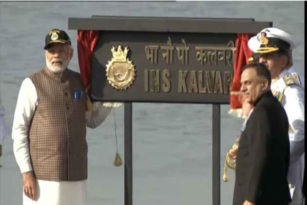 PM Narendra Modi dedicates INS Kalvari to the nation