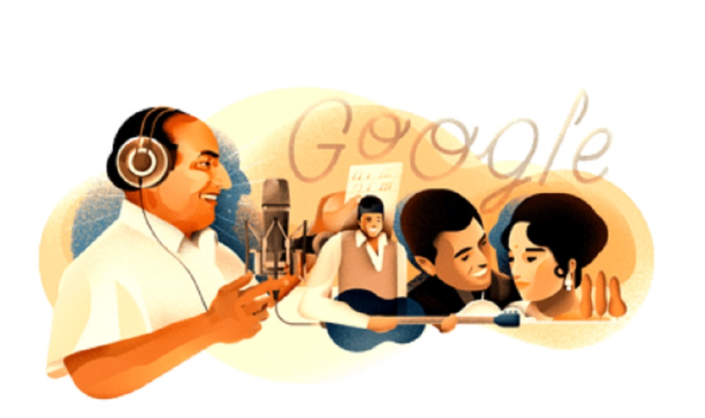 Google Doodle Pays Tribute to Mohammed Rafi on his 93rd Birthday