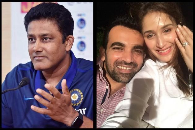 Anil Kumble Tags Wrong Sagarika While Congratulating Zaheer Khan On His Engagement