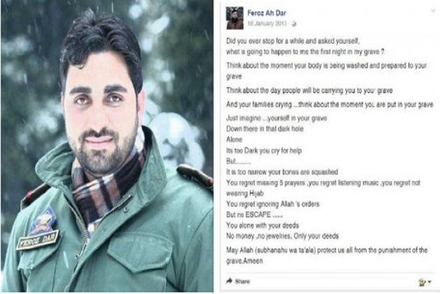 """First Night In The Grave"" Post By Slain Kashmiri Cop Feroz Dar Gives Glimpses Of Kashmir's Turmoil"