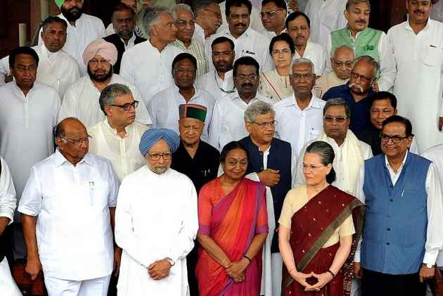 Led By Congress, Leaders Of 16 Opposition Parties Meet To Evolve Strategy To Counter BJP