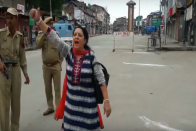 Watch: Lone Woman Chants 'Bharat Mata Ki Jay' In Heavily Guarded Lal Chowk On I-Day