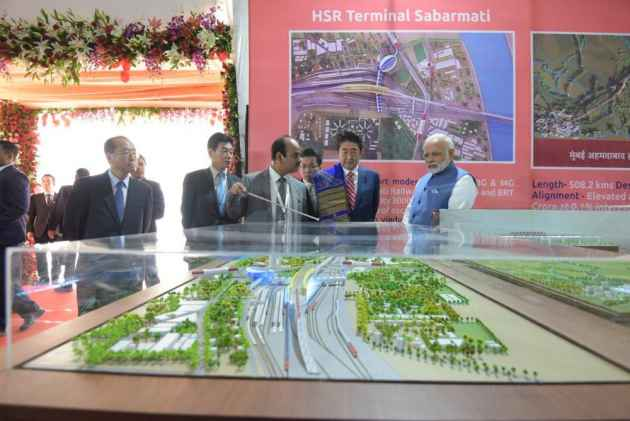 PM Modi, Japanese PM Abe Lay Foundation Stone For India's First Bullet Train Project In Ahmedabad