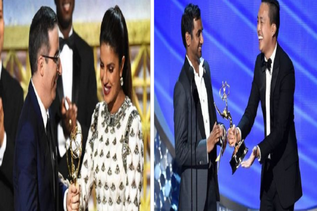 69th Emmy Awards: Priyanka Chopra Shines Bright In White On The Red Carpet, 'Little Indian Boy' Aziz Ansari Wins For Master Of None