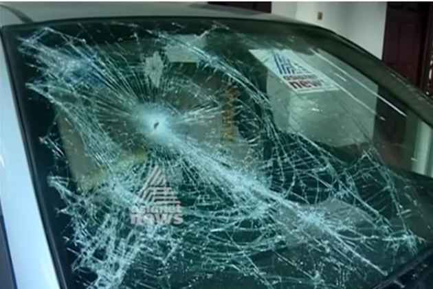 Asianet TV office attacked in Alappuzha