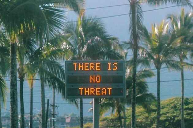 Panic Sparks In Hawaii After Residents Are Sent False Alarm Warning of Incoming Ballistic Missile