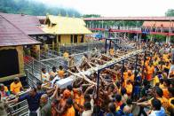 Protesters Stop Women At Sabarimala Base Camp Ahead Of Temple Opening