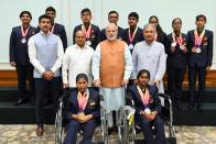 In Pics: PM Narendra Modi Meets Asian Para Games 2018 Medallists