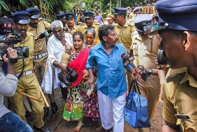 Image result for sabarimala women stopped