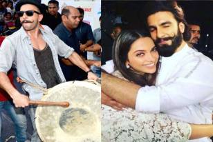 Ranveer Singh Goes 'Band Baja Baraat' Way, Plays Dhol For Wife-To-Be Deepika Padukone