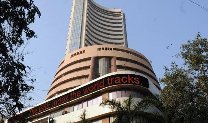 Sensex slips over 300 points; Tata Motors stock up