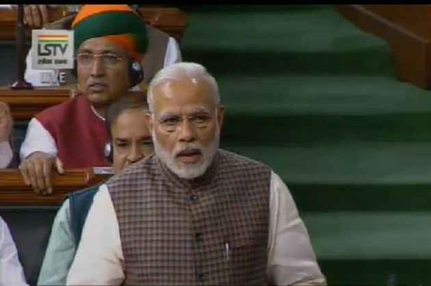 Opposition Chants 'Jhute Bhashan Band Karo' As Modi Speaks In Lok Sabha