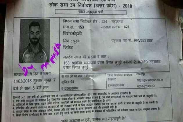 Virat Kohli's name appears in voter's slip in Gorakhpur; inquiry ordered