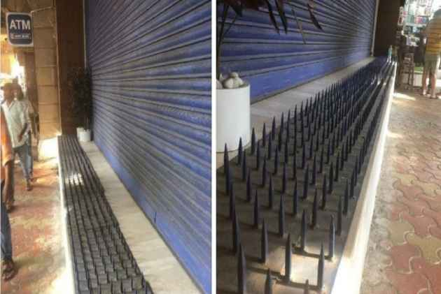 HDFC Bank Removes Iron Spikes Installed Outside Mumbai Branch After Massive Criticism
