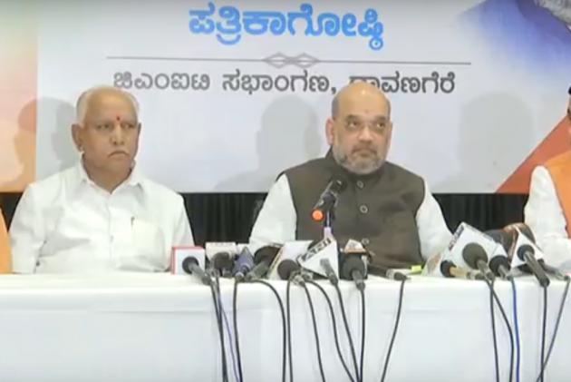 Amit Shah accuses Siddaramaiah govt of 'dividing' Hindus