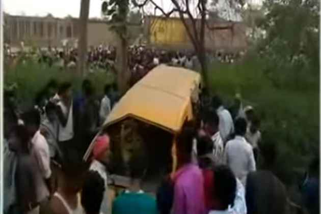 13 kids killed in UP accident, CM visits spot