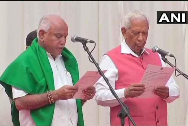 BJP's B.S. Yeddyurappa Sworn-In As Karnataka's 23rd CM Amid Objection From Cong, JD(S)