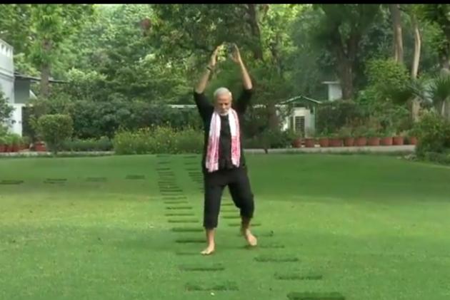 Watch: PM Modi Releases His Fitness Video, Passes Challenge To Karnataka CM Kumaraswamy
