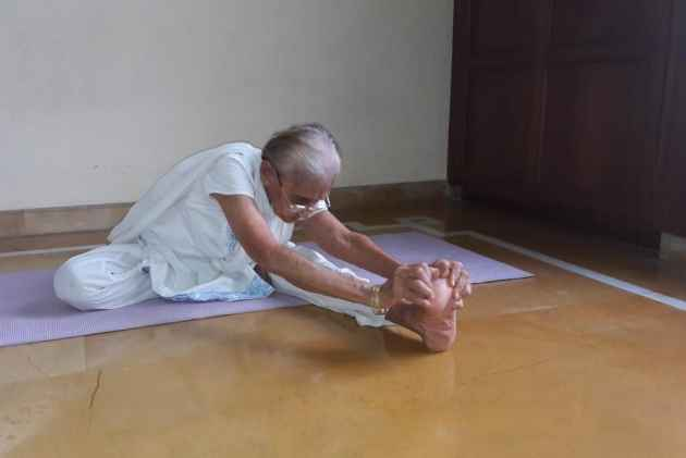 At 89, Saraswati Bhat's Yoga Video Throws Challenge To Youngsters