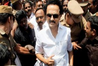 MK Stalin Detained By Police For Protesting Against Tamil Nadu Governor