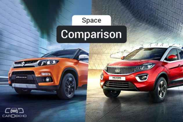 Maruti Vitara Brezza Vs Tata Nexon - Which SUV Offers Better Space?