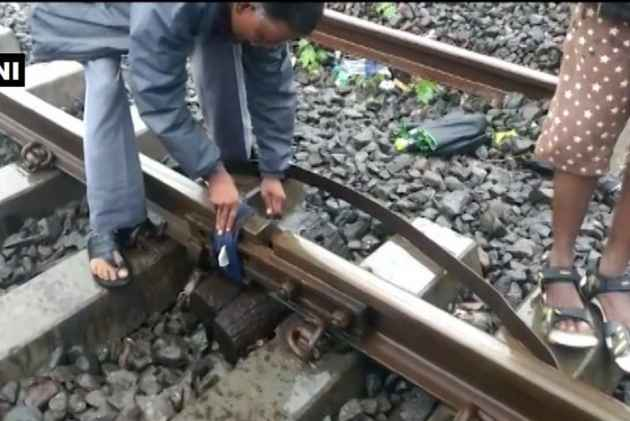 Mumbai Rains: Video Shows Cloth Being Tied On Fractured Piece Of Track, Railway Clarifies