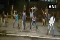 WATCH: MNS Men Dig Up Footpath Outside Mantralaya To Protest Against Potholes